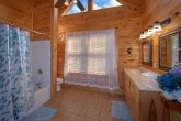 Private Master Bath in King Bedroom in Cabin