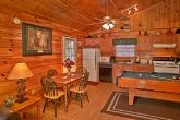 Cabin with full kitchen and pool table
