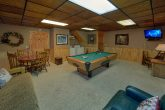 1 bedroom cabin with pool table and washer/dryer