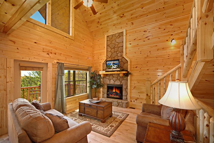Living Room with Views & Fireplace - Easy Like Sunday Morning