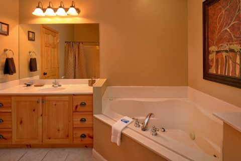 Private Jacuzzi Tub 5 Bedroom Gatlinburg Cabin - Elkhorn Lodge