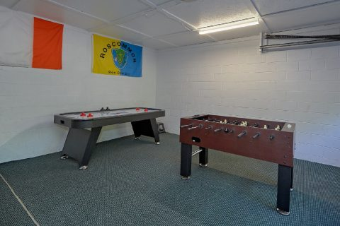 Game Room with Air Hockey and Foos Ball Tables - Emerald View