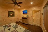 Master bedroom with TV and Shared Bathroom