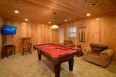Pigeon Forge Cabin with Pool Table and Game Room