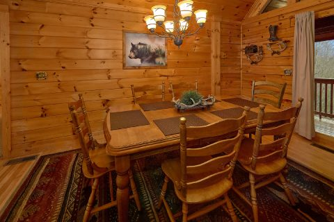 Gatlinburg cabin with Dining room for 6 guests - Fireside View