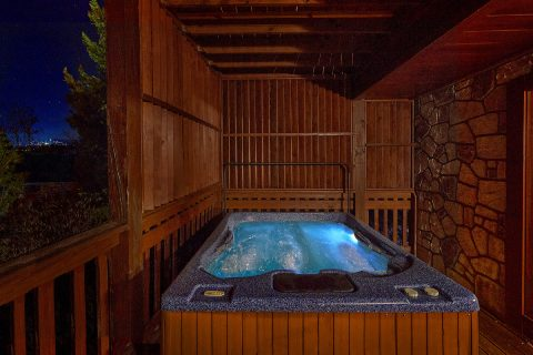 Gatlinburg cabin with hot tub and Mountain View - Fireside View