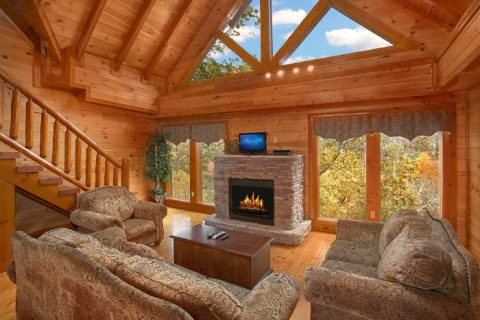 8 Bedroom Cabin Sleeps 24 Extra Siting Room - Grand Theater Lodge