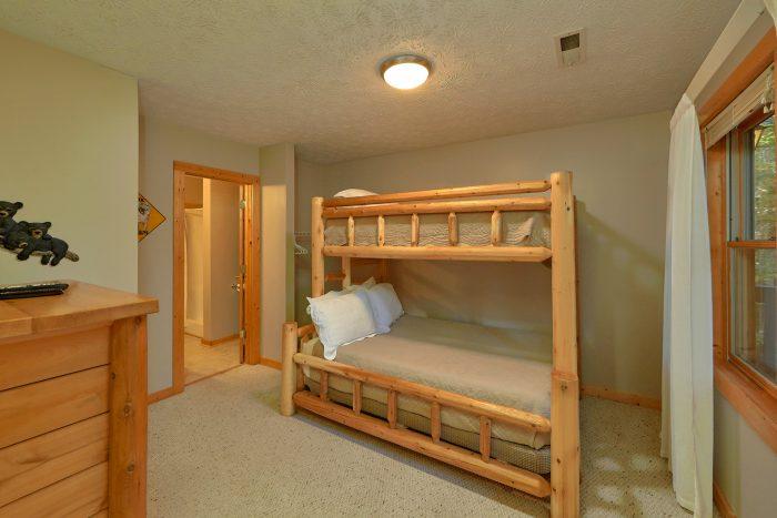 3rd Bedroom With Bunk Beds - Gray Fox Den