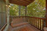 Swing on Back Deck Wooded View