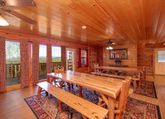 Cabin with extra large dining room
