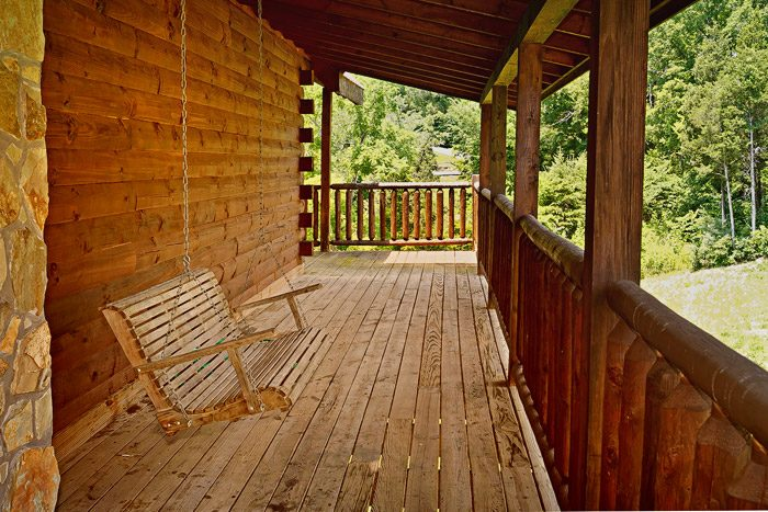 Cabin with Porch Swing - Great Escape