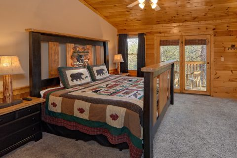 Master Bedroom King Bed - Growly Bear