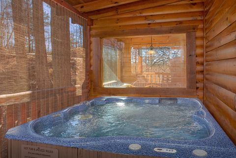 Private Hot Tub with Wooded View - Happily Ever After