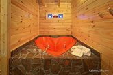 Honey Moon Cabin with a Heart Shaped Jacuzzi