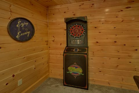 Dart Board Pool Table Arcade Games Theater Room - Heavenly Hideaway