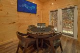 Luxury cabin rental with Poker Table Game Room