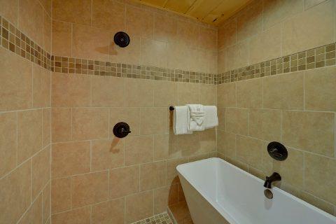 Luxurious Master Bath shower in cabin bathroom - Hickory Splash