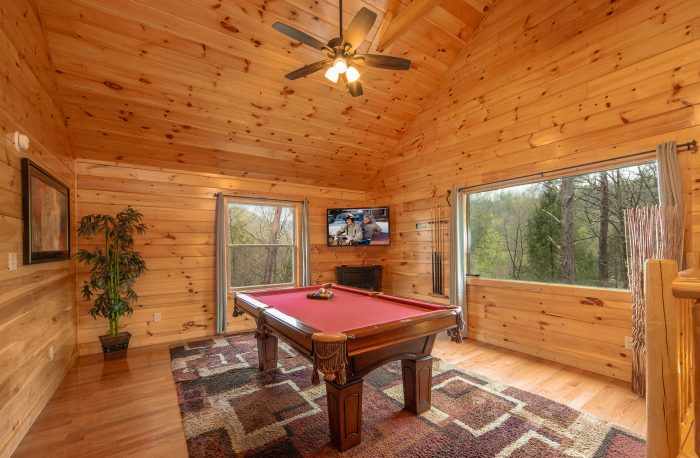 Billiard Room with TV - Hickory Splash