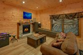 Comfortable Large Game Room Gas Fireplace
