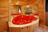 Smoky Mountain Cabin with a Heart Shaped Jacuzzi