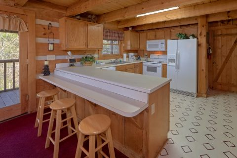 Full Kitchen in 2 bedroom cabin - Hillbilly Deluxe