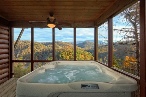 Private Screen In Porch with Hot Tub Sleeps 6 - Hilltopper