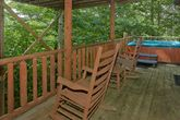 Private hot tub on 1 bedroom cabin deck
