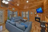 Cabin with large living area and sleeper sofa