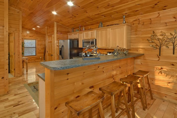 Cabin with modern Kitchen - I Love View