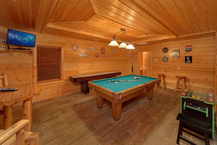 Spacious Game Room with Pool Table - In The Heart Of Pigeon Forge