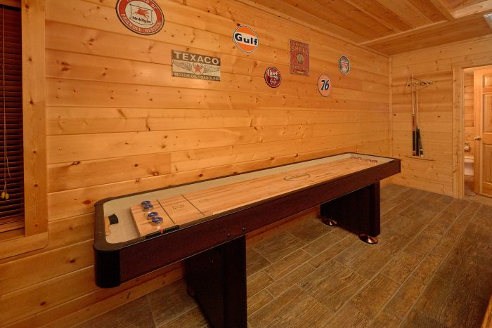 Game Room with Shuffle Board Table - In The Heart Of Pigeon Forge