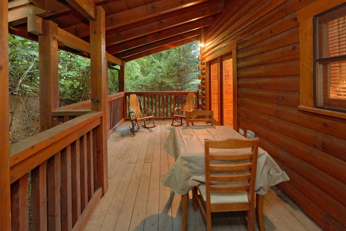 Covered Decks with Table and Chairs - In The Heart Of Pigeon Forge