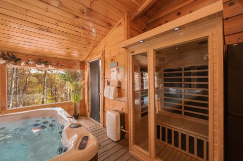 Luxury cabin with Swim Spa Pool and Sauna - It's A Waterful Life
