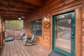 1 bedroom cabin with rocking chairs on the deck