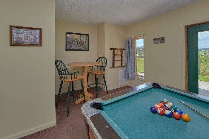 Lower Level Game Room with Pool Table - Ivey's Cove