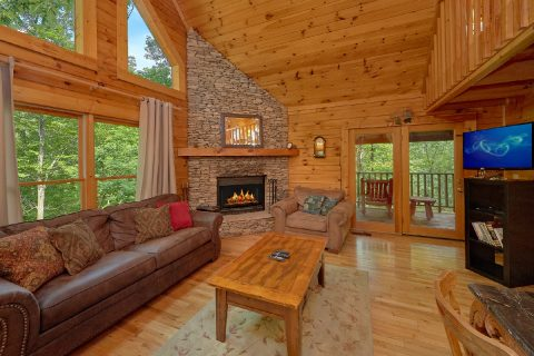 1 Bedroom 2 Bath Open Floor Plan Cabin - Jasmine's Retreat