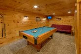 Game Room with Pool Table Cabin Sleeps 6