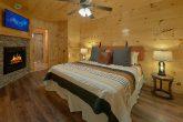Master Bedroom on main level in 2 bedroom cabin