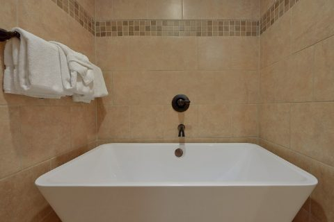 Oversize tub in 2 bedroom cabin master bath - Laurel Splash