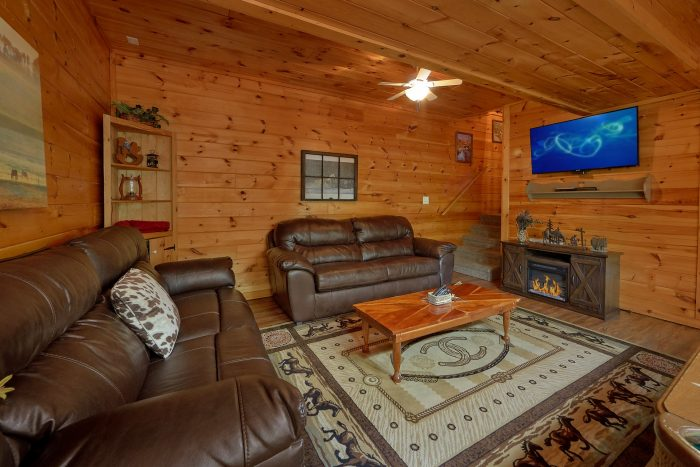 2 Bedroom Cabin with Swing and Rocking Chairs - Lil Country Cabin
