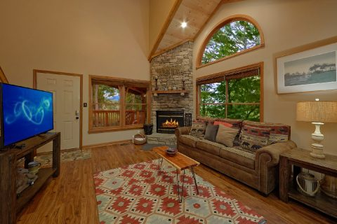 Cozy Living Room with Fireplace and sleeper sofa - Little Wren