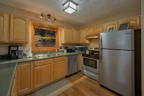 Full Kitchen in 2 bedroom Gatlinburg Cabin - Little Wren