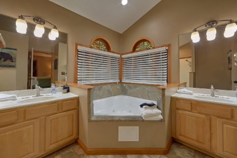 Master Bathroom with private jacuzzi in Cabin - Little Wren