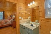 Private Master Bath in 3 bedroom cabin