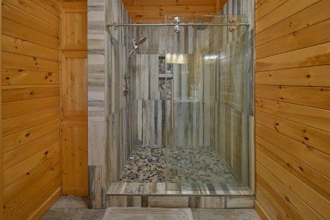 Luxurious Master Bathroom shower in cabin - LoneStar