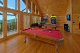Large Game Room with Pool Table 6 Bedroom Cabin