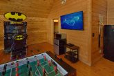 Large Screen TV in Game Room