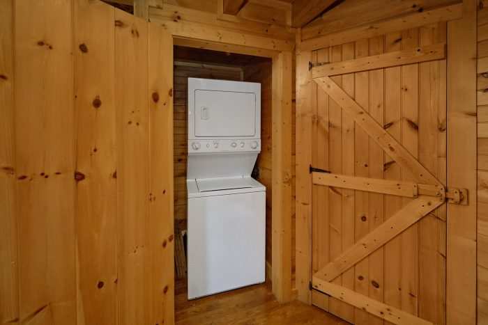 Washer and Dryer 1 Bedroom Cabin - Love Without End
