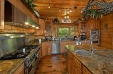 Luxurious kitchen in 5 bedroom cabin rental