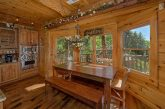 5 bedroom cabin with multiple dining areas
